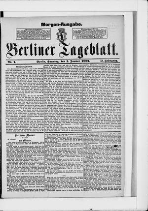 Berliner Tageblatt und Handels-Zeitung vom 01.01.1882
