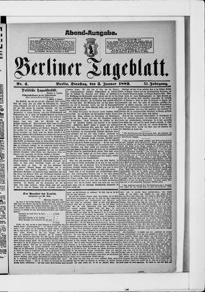 Berliner Tageblatt und Handels-Zeitung vom 03.01.1882