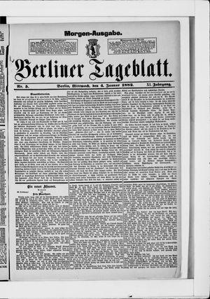 Berliner Tageblatt und Handels-Zeitung vom 04.01.1882