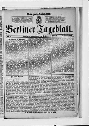 Berliner Tageblatt und Handels-Zeitung vom 05.01.1882