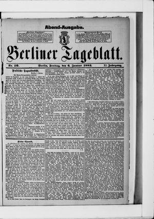 Berliner Tageblatt und Handels-Zeitung vom 06.01.1882