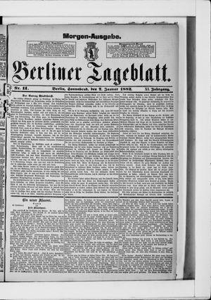 Berliner Tageblatt und Handels-Zeitung on Jan 7, 1882