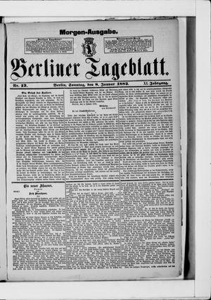 Berliner Tageblatt und Handels-Zeitung vom 08.01.1882