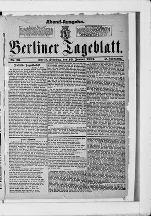 Berliner Tageblatt und Handels-Zeitung vom 10.01.1882