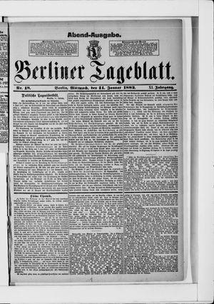 Berliner Tageblatt und Handels-Zeitung vom 11.01.1882