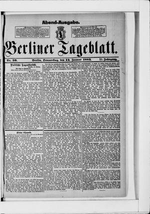Berliner Tageblatt und Handels-Zeitung vom 12.01.1882