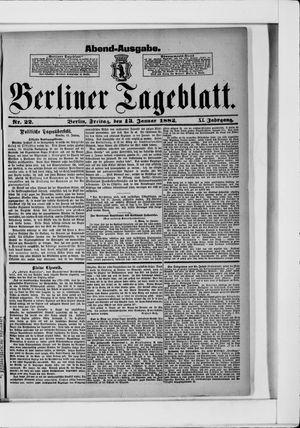 Berliner Tageblatt und Handels-Zeitung on Jan 13, 1882