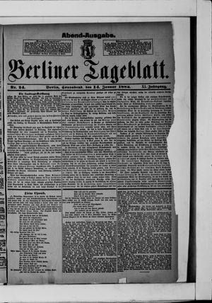 Berliner Tageblatt und Handels-Zeitung vom 14.01.1882
