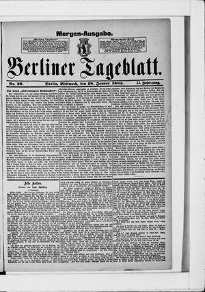 Berliner Tageblatt und Handels-Zeitung vom 18.01.1882