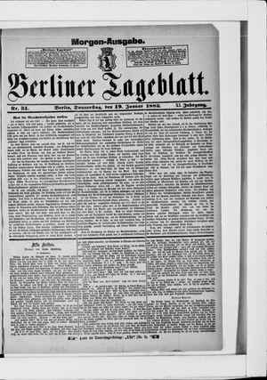Berliner Tageblatt und Handels-Zeitung vom 19.01.1882
