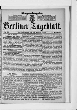 Berliner Tageblatt und Handels-Zeitung vom 20.01.1882