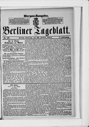 Berliner Tageblatt und Handels-Zeitung vom 22.01.1882