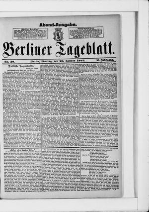 Berliner Tageblatt und Handels-Zeitung vom 23.01.1882