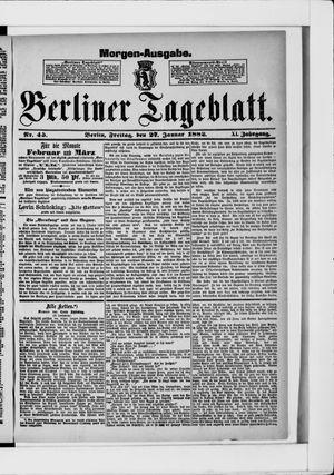 Berliner Tageblatt und Handels-Zeitung vom 27.01.1882