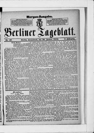 Berliner Tageblatt und Handels-Zeitung vom 28.01.1882