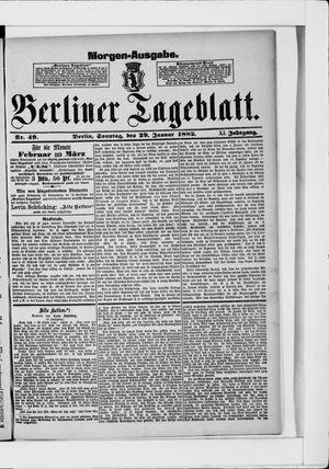 Berliner Tageblatt und Handels-Zeitung on Jan 29, 1882