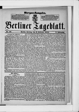 Berliner Tageblatt und Handels-Zeitung vom 02.02.1882