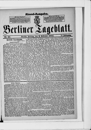 Berliner Tageblatt und Handels-Zeitung vom 03.02.1882