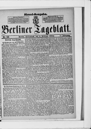 Berliner Tageblatt und Handels-Zeitung vom 04.02.1882