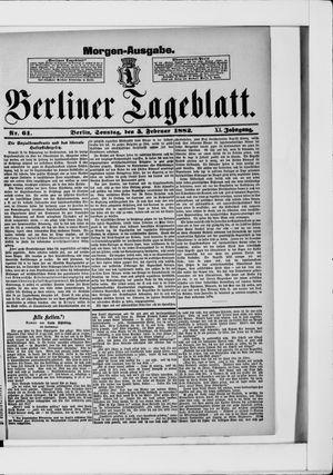 Berliner Tageblatt und Handels-Zeitung on Feb 5, 1882