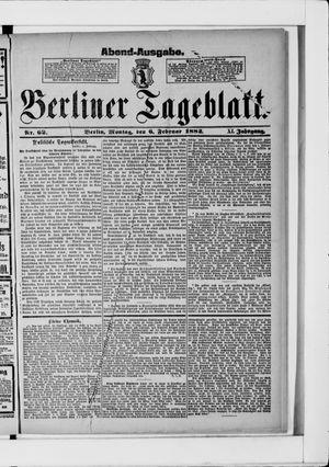 Berliner Tageblatt und Handels-Zeitung vom 06.02.1882