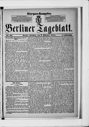 Berliner Tageblatt und Handels-Zeitung vom 07.02.1882