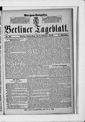 Berliner Tageblatt und Handels-Zeitung vom 09.02.1882