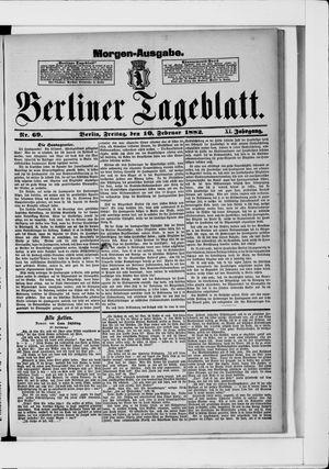 Berliner Tageblatt und Handels-Zeitung vom 10.02.1882