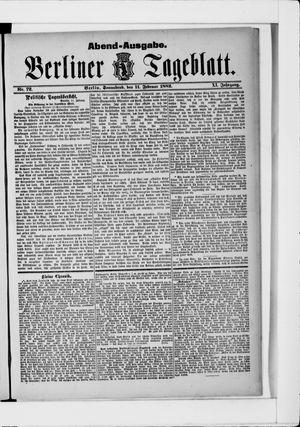 Berliner Tageblatt und Handels-Zeitung vom 11.02.1882