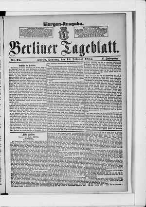 Berliner Tageblatt und Handels-Zeitung vom 12.02.1882