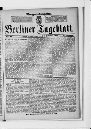 Berliner Tageblatt und Handels-Zeitung vom 16.02.1882