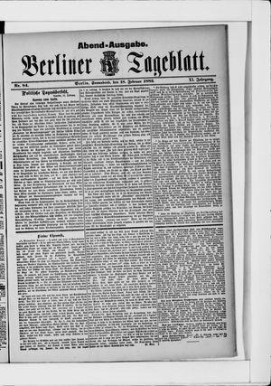 Berliner Tageblatt und Handels-Zeitung vom 18.02.1882