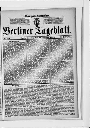 Berliner Tageblatt und Handels-Zeitung vom 19.02.1882