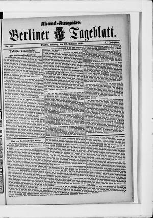 Berliner Tageblatt und Handels-Zeitung on Feb 20, 1882