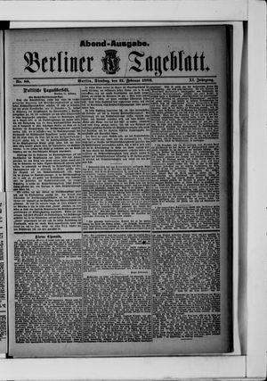 Berliner Tageblatt und Handels-Zeitung vom 21.02.1882
