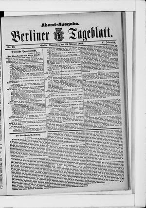 Berliner Tageblatt und Handels-Zeitung vom 23.02.1882