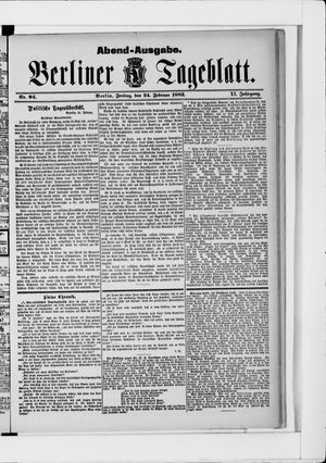Berliner Tageblatt und Handels-Zeitung vom 24.02.1882