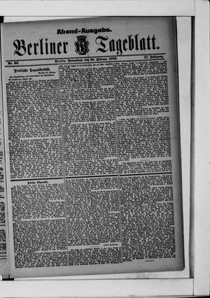 Berliner Tageblatt und Handels-Zeitung vom 25.02.1882