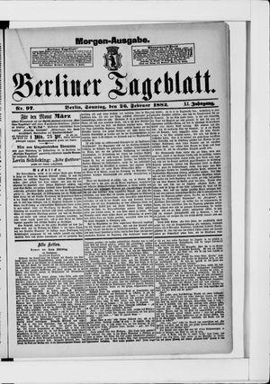 Berliner Tageblatt und Handels-Zeitung vom 26.02.1882