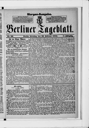 Berliner Tageblatt und Handels-Zeitung vom 28.02.1882