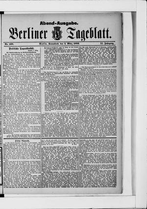 Berliner Tageblatt und Handels-Zeitung vom 04.03.1882