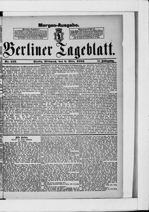 Berliner Tageblatt und Handels-Zeitung vom 08.03.1882
