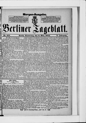 Berliner Tageblatt und Handels-Zeitung vom 09.03.1882