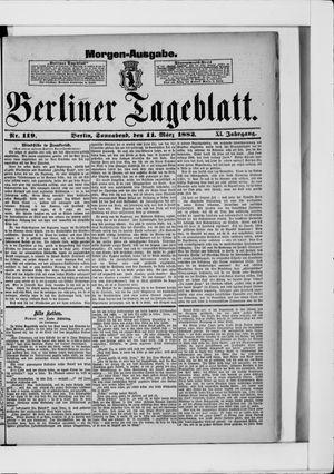 Berliner Tageblatt und Handels-Zeitung vom 11.03.1882