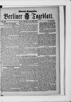 Berliner Tageblatt und Handels-Zeitung vom 13.03.1882