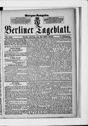 Berliner Tageblatt und Handels-Zeitung vom 24.03.1882