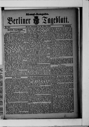 Berliner Tageblatt und Handels-Zeitung vom 25.03.1882
