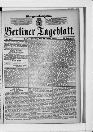 Berliner Tageblatt und Handels-Zeitung vom 28.03.1882