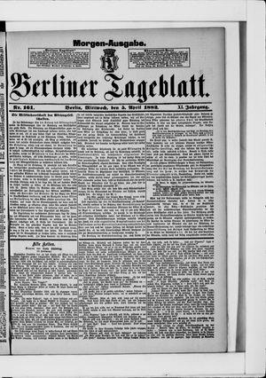 Berliner Tageblatt und Handels-Zeitung vom 05.04.1882
