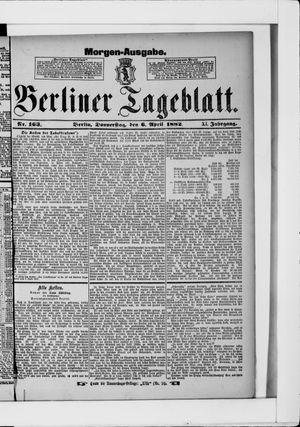 Berliner Tageblatt und Handels-Zeitung vom 06.04.1882